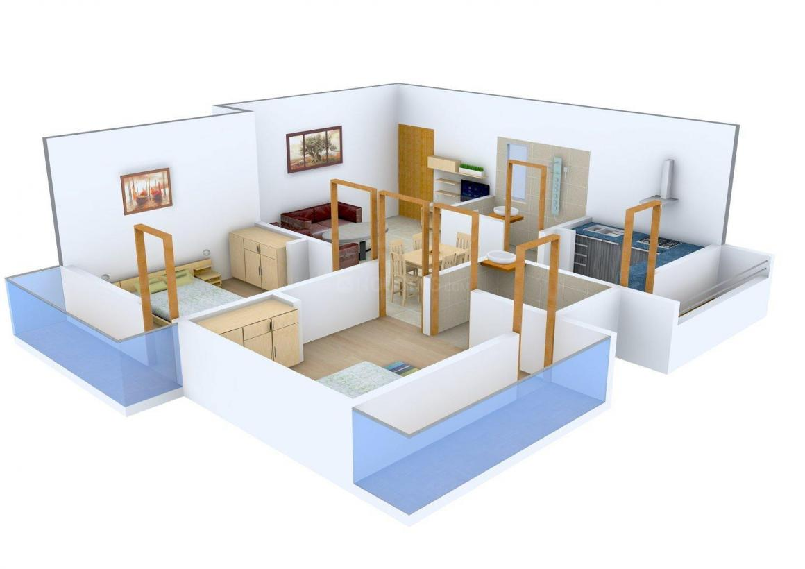 Floor Plan Image of 0 - 817.0 Sq.ft 2 BHK Apartment for buy in Home Tech Anugrahaa