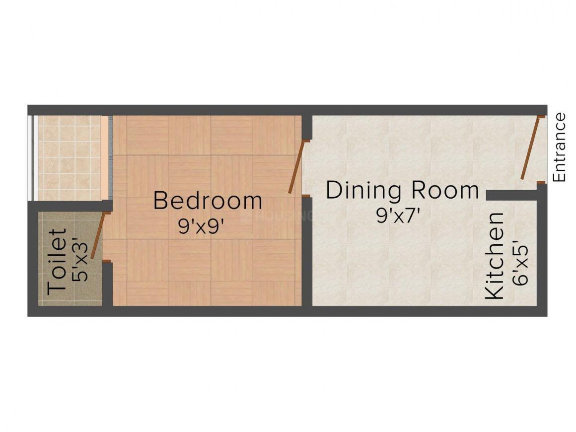 Floor Plan Image of 0 - 225.0 Sq.ft 1 BHK Independent Floor for buy in SBP - III