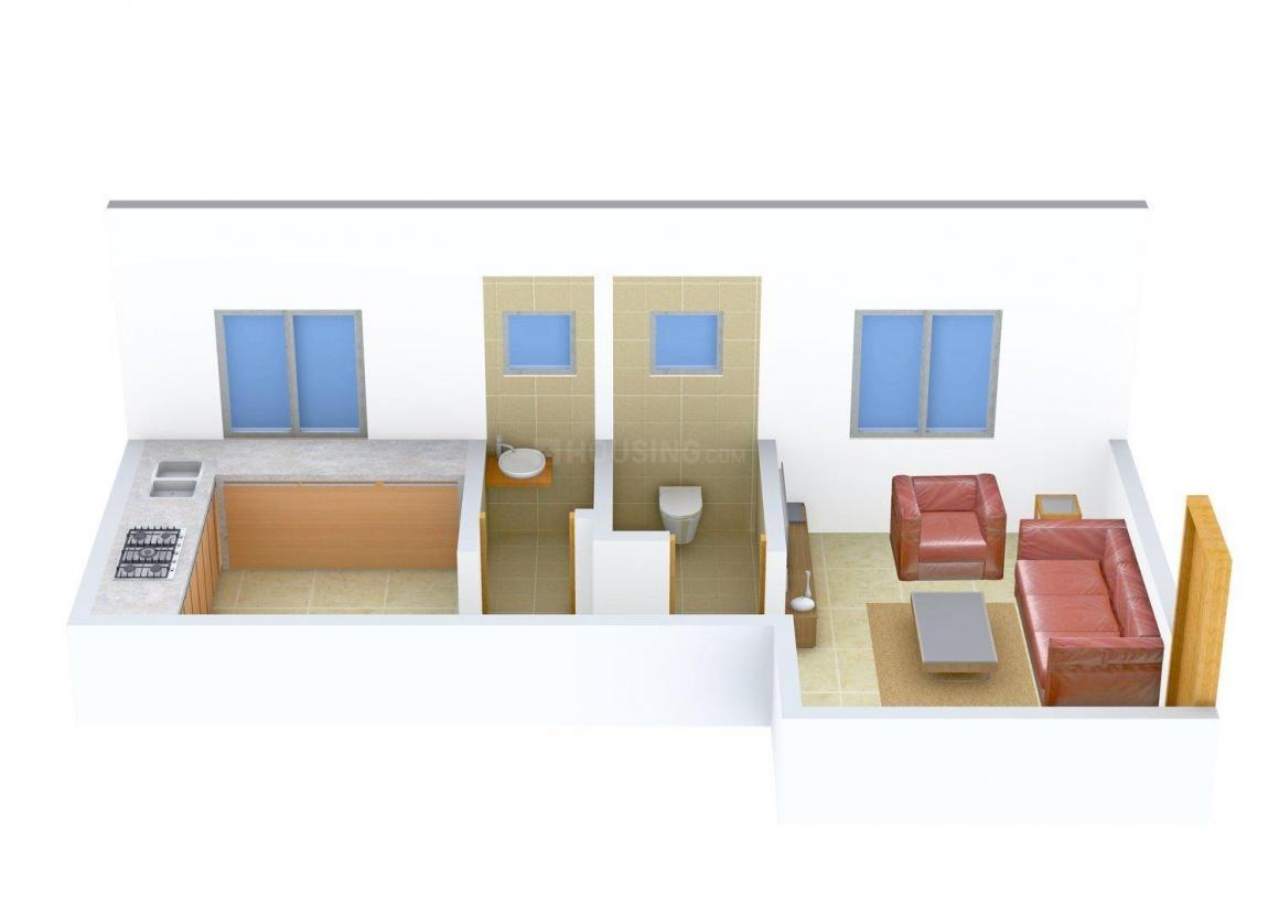 Shubh Kalawati Nagar Floor Plan: 1 BHK Unit with Built up area of 425 sq.ft 1