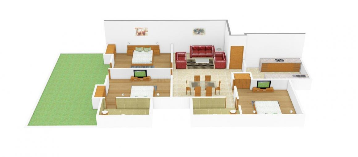 Neev Buildtech A-174 Floor Plan: 3 BHK Unit with Built up area of 1728 sq.ft 1
