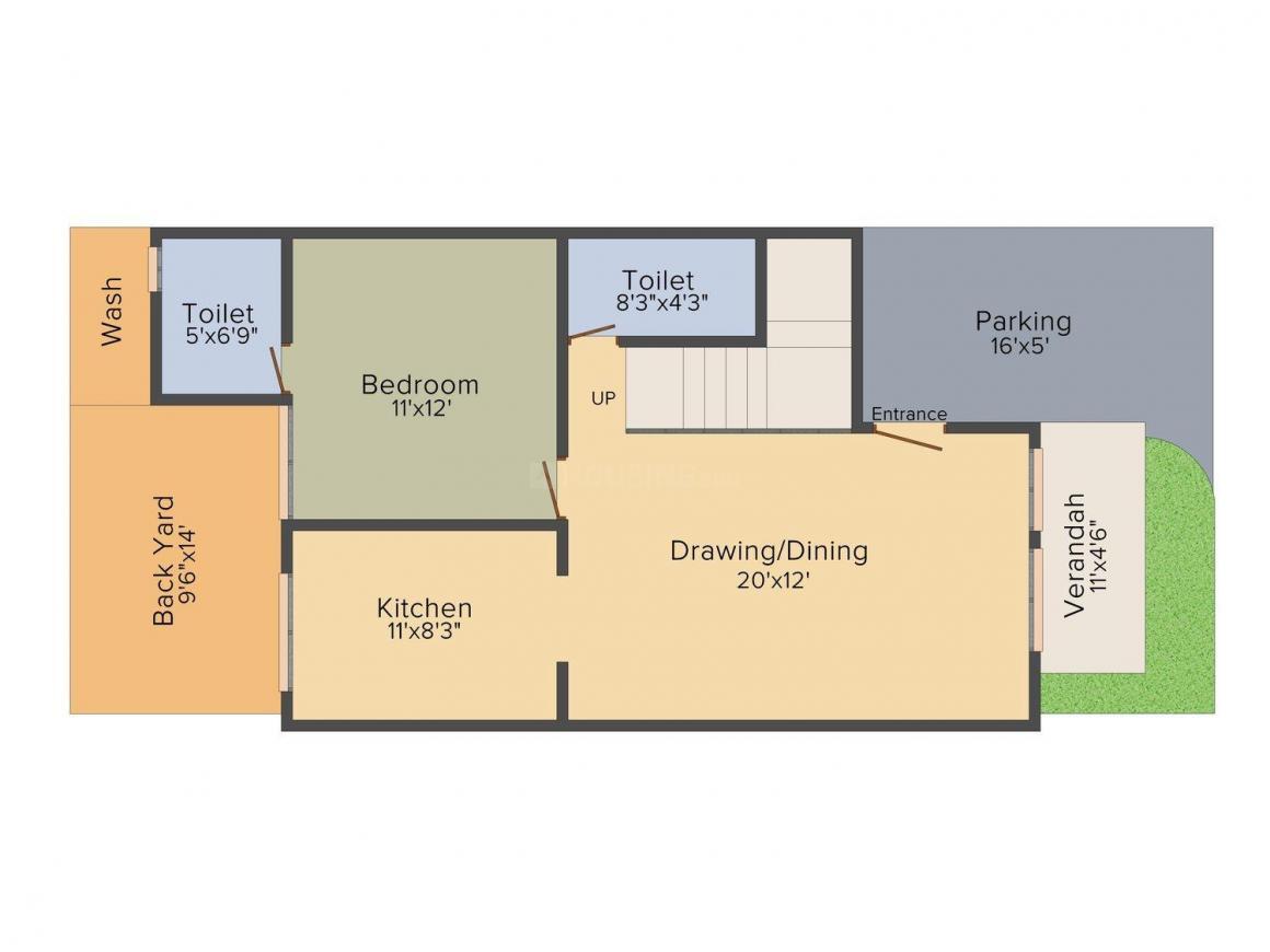 Omnium Shri Shaligram Villa Floor Plan: 4 BHK Unit with Built up area of 2727 sq.ft 1