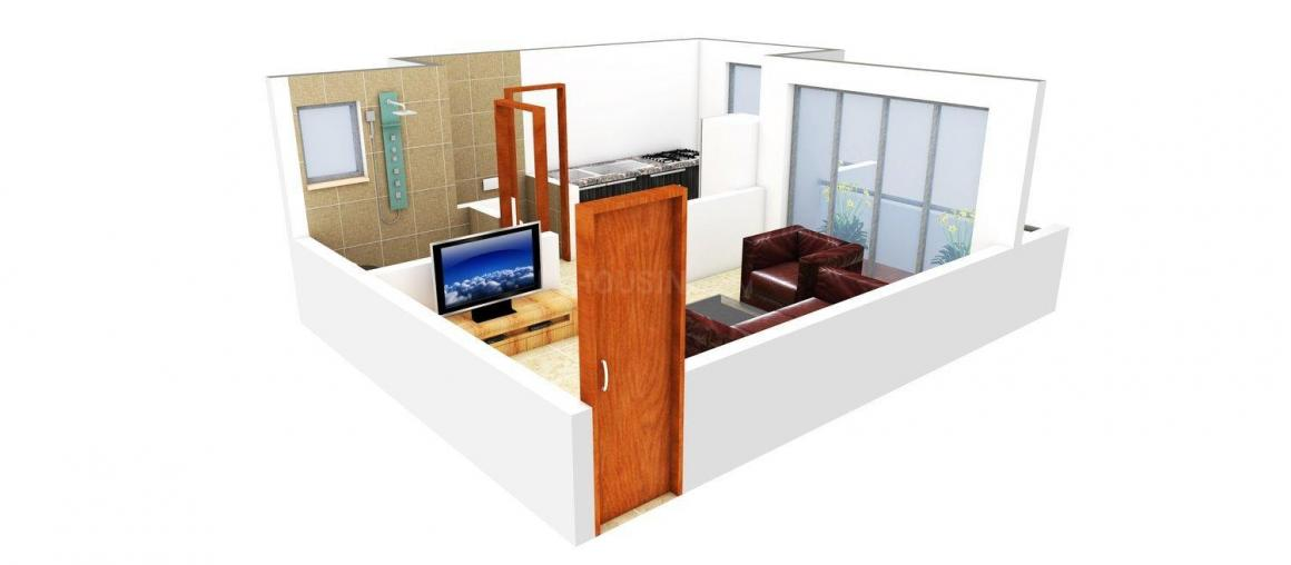 Floor Plan Image of 425 - 800 Sq.ft 1 RK Apartment for buy in Morya Manomay Heights
