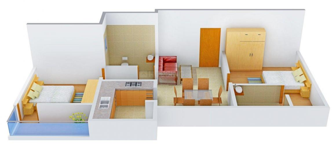 Floor Plan Image of 852 - 950 Sq.ft 2 BHK Apartment for buy in Royal Amritha