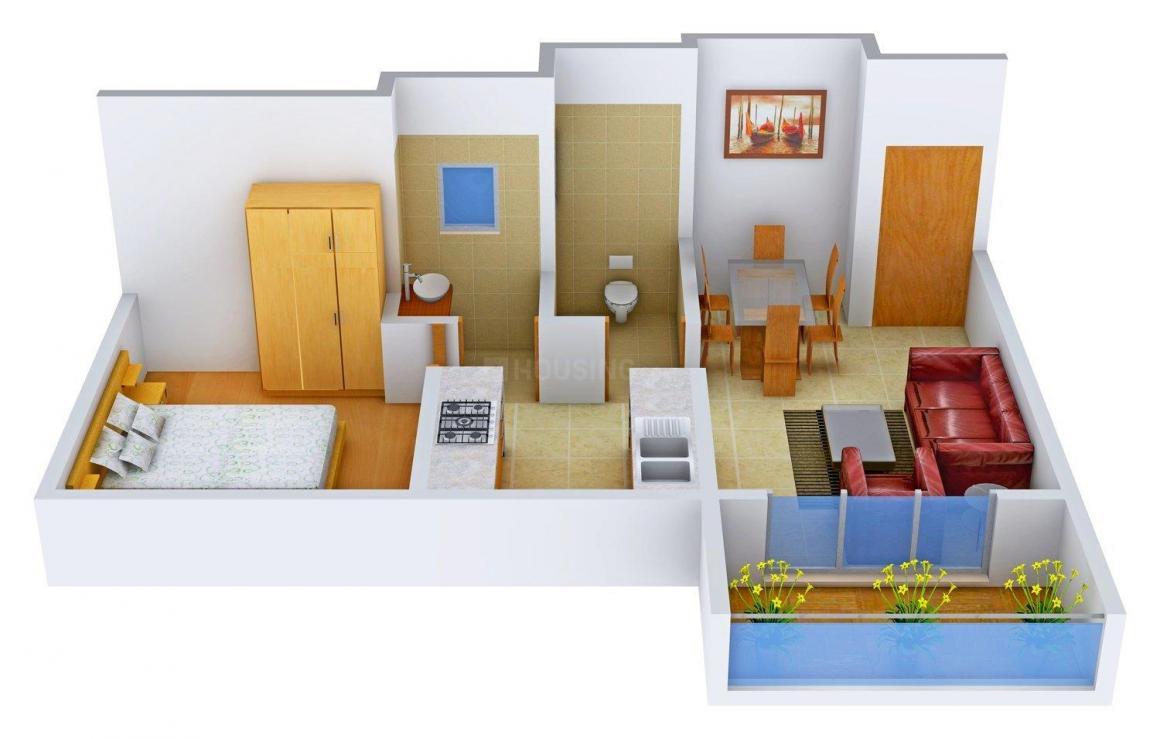 Shree Sanskruti Dew Berry Floor Plan: 1 BHK Unit with Built up area of 550 sq.ft 1
