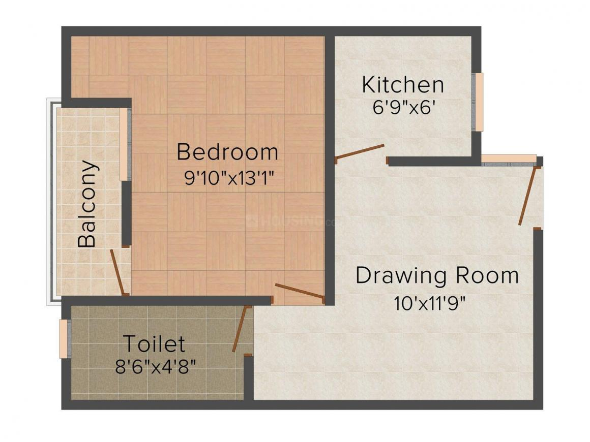 Shiv Om Shiv Home - 5 Floor Plan: 1 BHK Unit with Built up area of 450 sq.ft 1