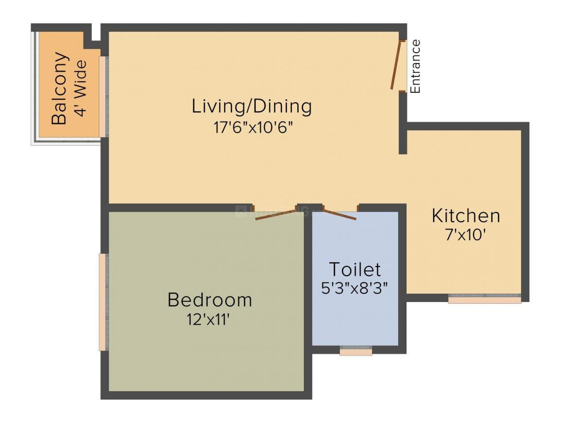 Floor Plan Image of 644 - 2467 Sq.ft 1 BHK Apartment for buy in Urbanize Song of The South