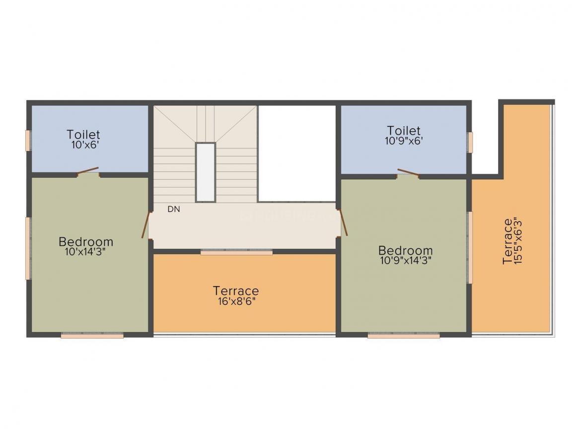 Floor Plan Image of 0 - 2600 Sq.ft 3 BHK Villa for buy in Mittal 2 of 7