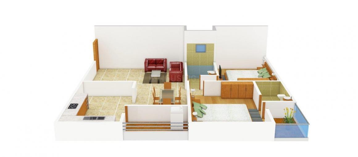 Sankalp Prayosha Greens Floor Plan: 2 BHK Unit with Built up area of 1035 sq.ft 1