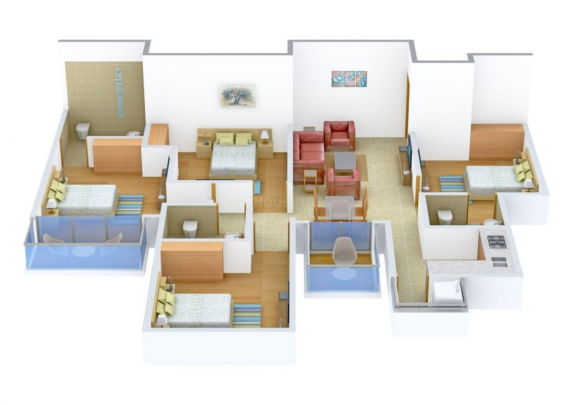 Floor Plan Image of 0 - 1600.0 Sq.ft 4 BHK Independent Floor for buy in V. P. Homes 47