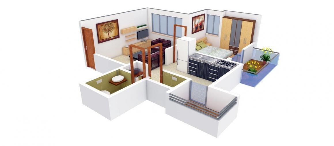 Acme Landmarks Alcina Floor Plan: 1 BHK Unit with Built up area of 438 sq.ft 1