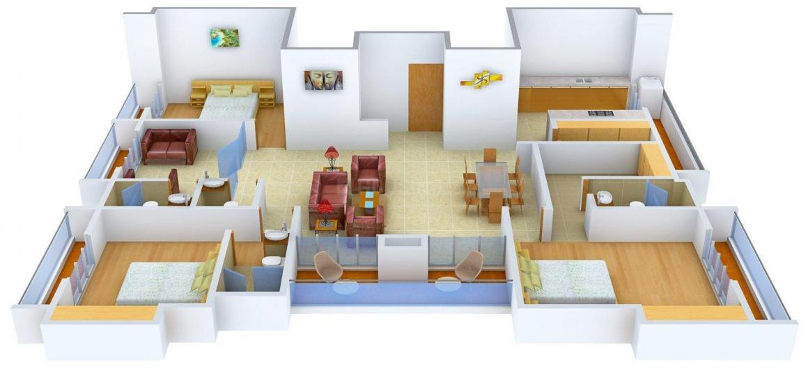 Floor Plan Image of 0 - 2790 Sq.ft 4 BHK Apartment for buy in Punit Espinal