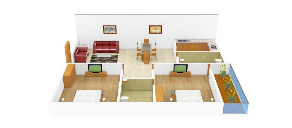 Winsome Group Winsome Orchid Empire Floor Plan: 2 BHK Unit with Built up area of 904 sq.ft 1