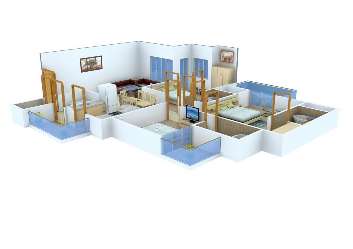 Floor Plan Image of 885 - 2070 Sq.ft 2 BHK Apartment for buy in Amrapali Terrace Homes