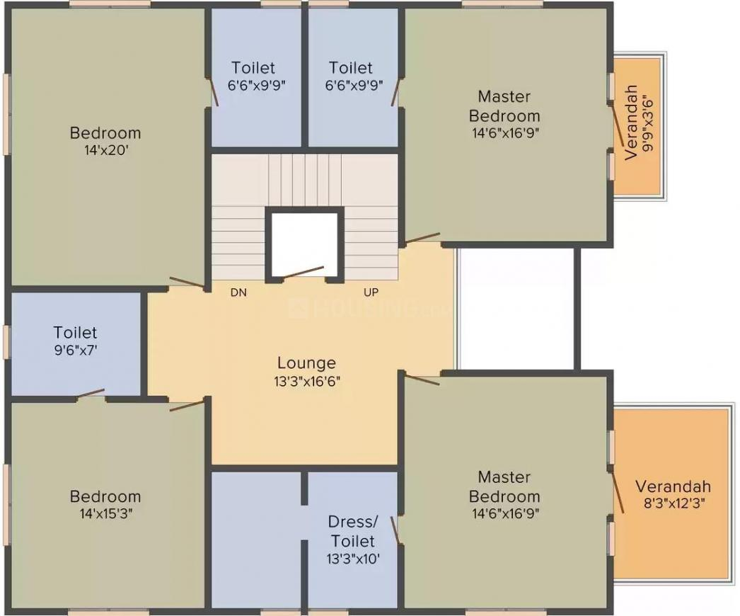 KB Supercity Lifestyle Township Floor Plan: 5 BHK Unit with Built up area of 6552 sq.ft 2