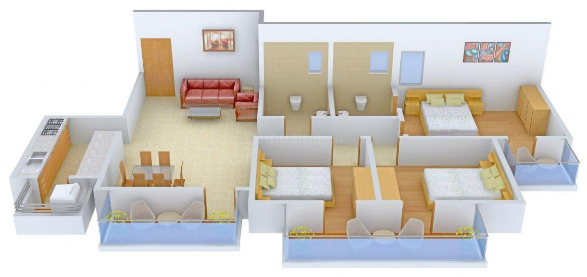 Floor Plan Image of 0 - 2250 Sq.ft 3 BHK Independent Floor for buy in GK Homes 2