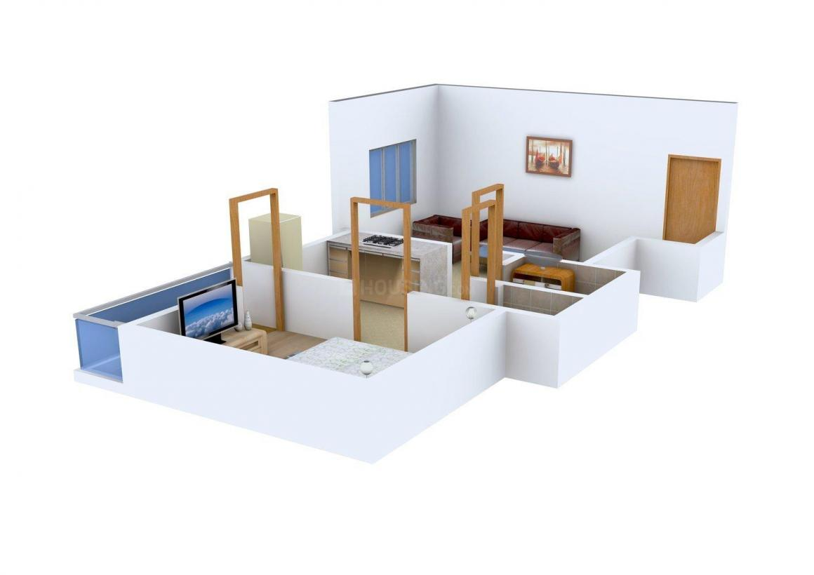 Floor Plan Image of 418 - 561 Sq.ft 1 BHK Apartment for buy in Indrani Heights