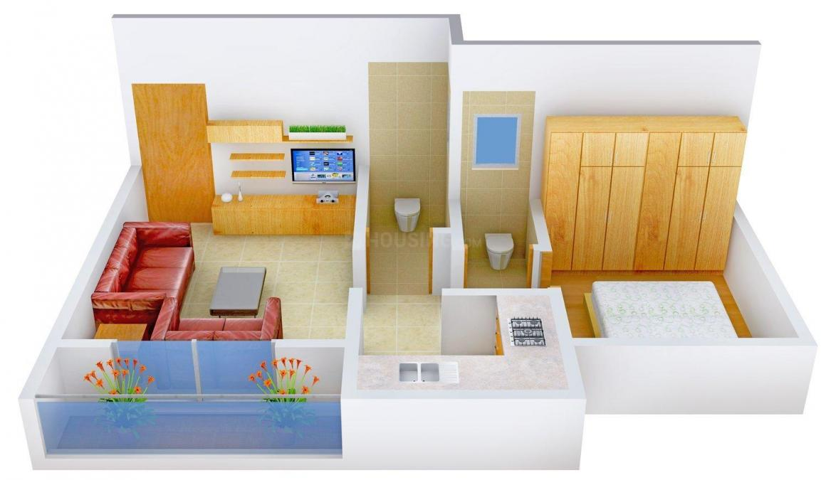 Floor Plan Image of 515 - 830 Sq.ft 1 BHK Apartment for buy in Sanjivani Complex