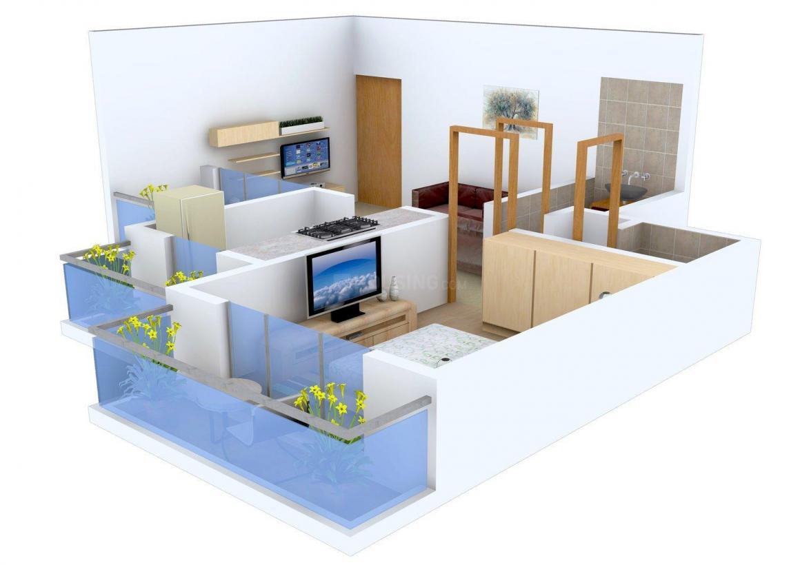 Floor Plan Image of 350 - 630 Sq.ft 1 BHK Apartment for buy in Nirvana Nest