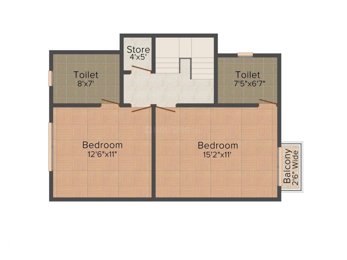 Floor Plan Image of 0 - 1100.0 Sq.ft 3 BHK Duplex for buy in Shreeji Vandan Duplex