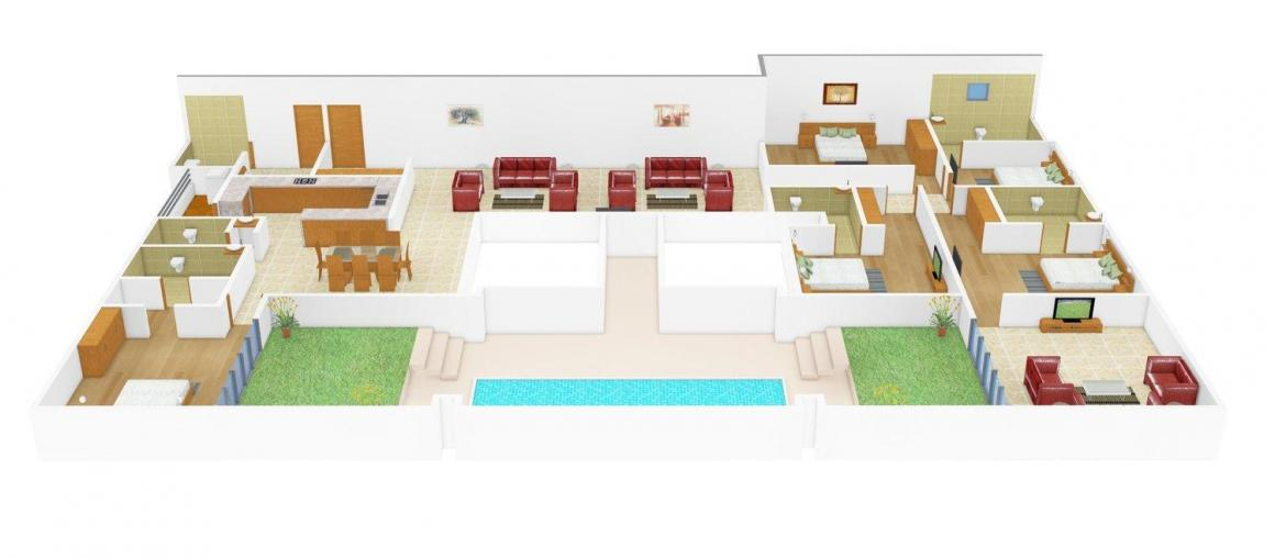 Floor Plan Image of 517 - 3822 Sq.ft 1 BHK Apartment for buy in TVH Taus