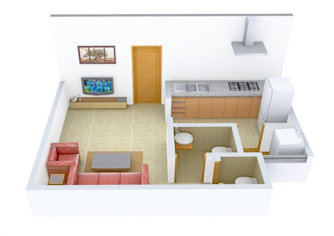 Floor Plan Image of 450 - 810 Sq.ft 1 RK Apartment for buy in Gokul Galaxy