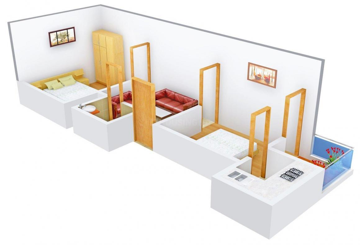 RBS Homes Floor Plan: 2 BHK Unit with Built up area of 450 sq.ft 1