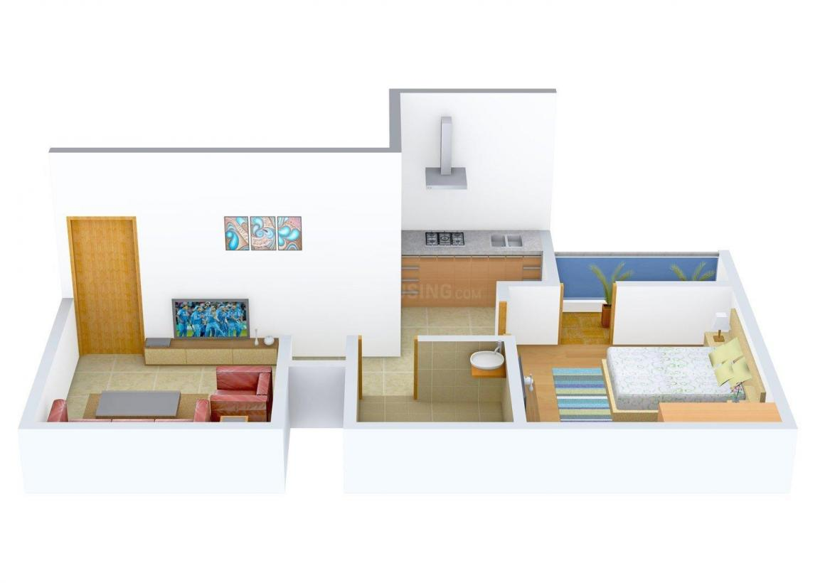 Floor Plan Image of 0 - 450.0 Sq.ft 1 BHK Independent Floor for buy in 121 Home Aash Apartment