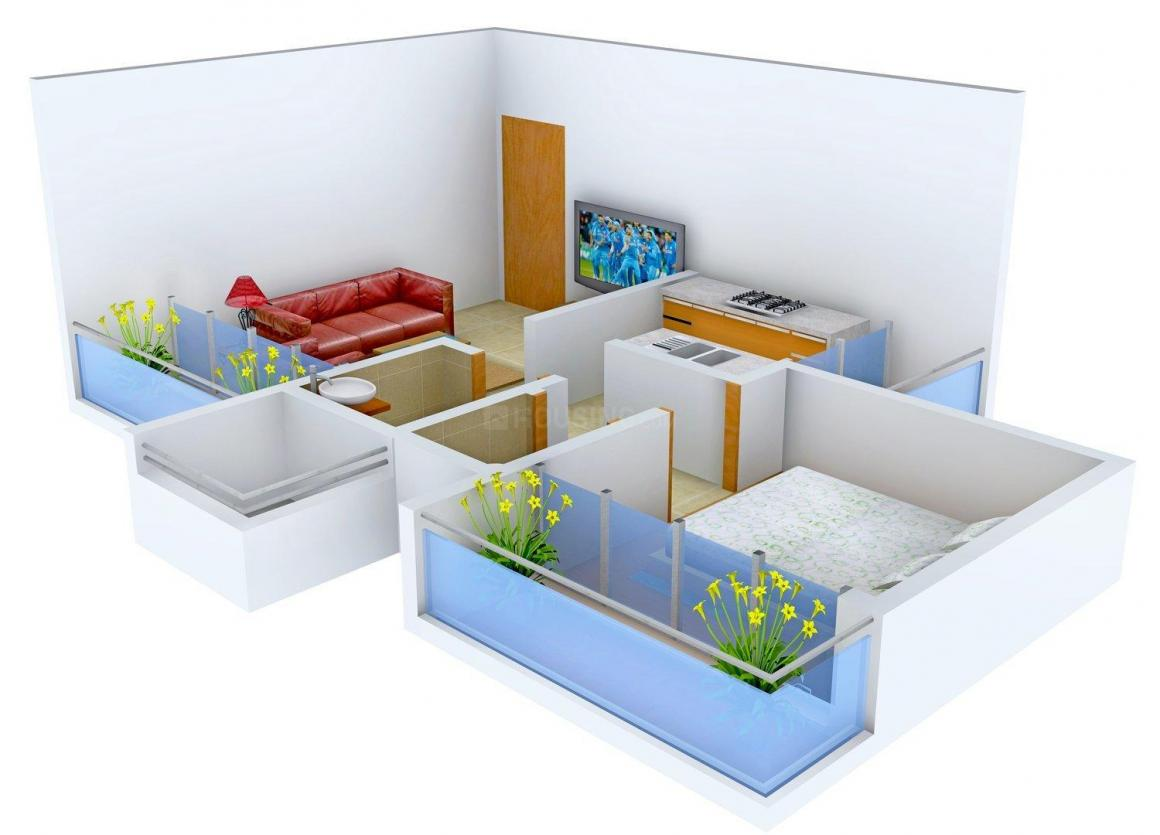 Floor Plan Image of 650 - 1065 Sq.ft 1 BHK Apartment for buy in Devkrupa Anant Park