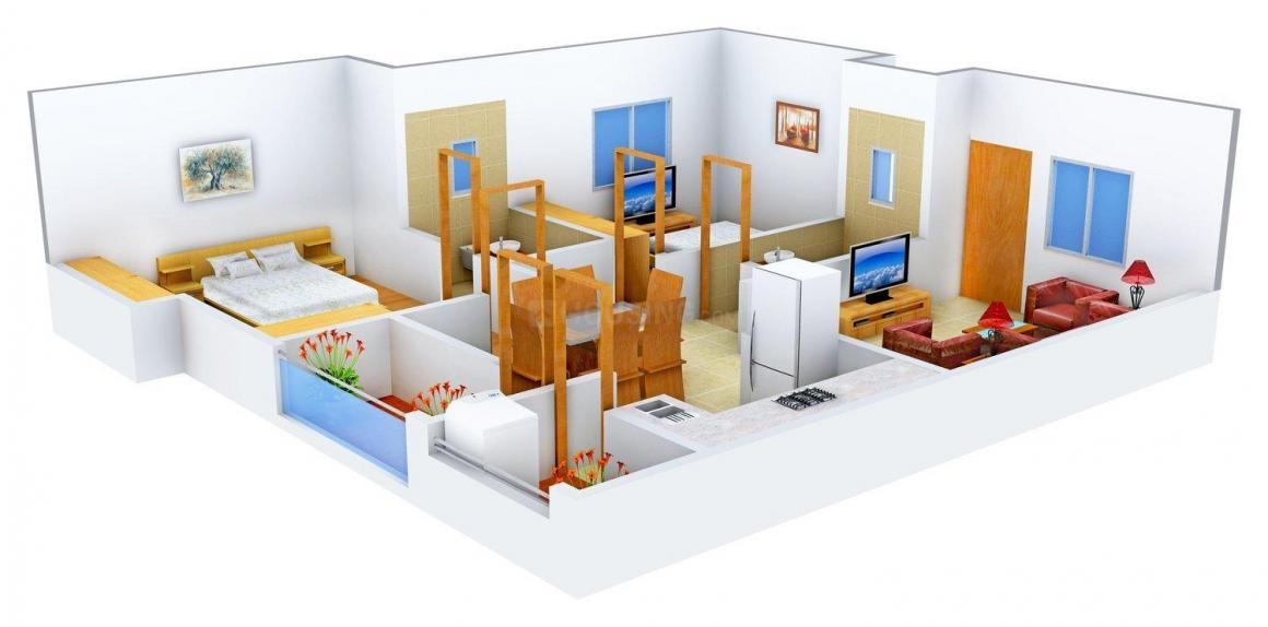 Floor Plan Image of 1165.0 - 1470.0 Sq.ft 2 BHK Apartment for buy in 99 Zameen Daisy II