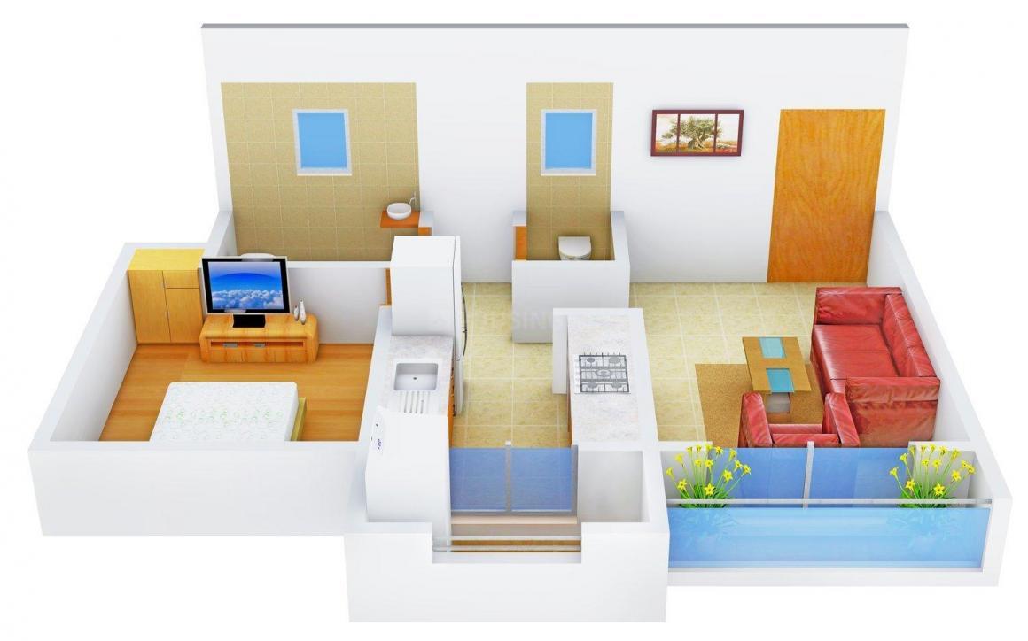 Floor Plan Image of 600 - 820 Sq.ft 1 BHK Apartment for buy in Sunirmiti Amrut Residency