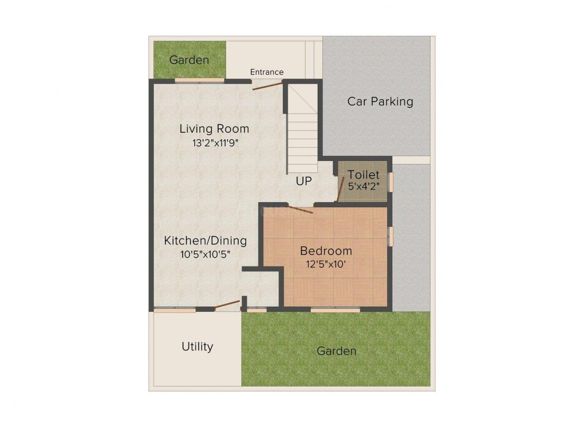 Floor Plan Image of 0 - 1935 Sq.ft 3 BHK Duplex for buy in Space Matrix Homes