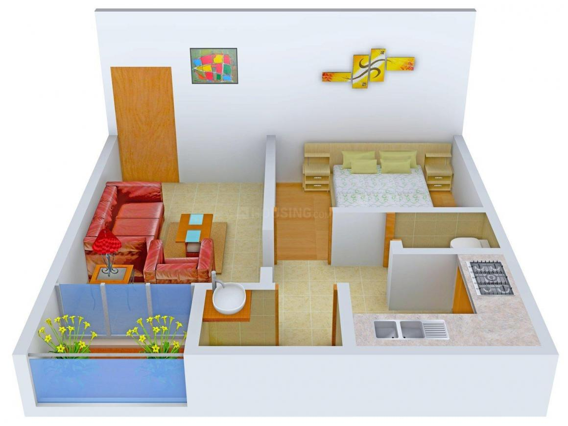 Floor Plan Image of 510.0 - 585.0 Sq.ft 1 BHK Apartment for buy in Smeet Parvati Apartment