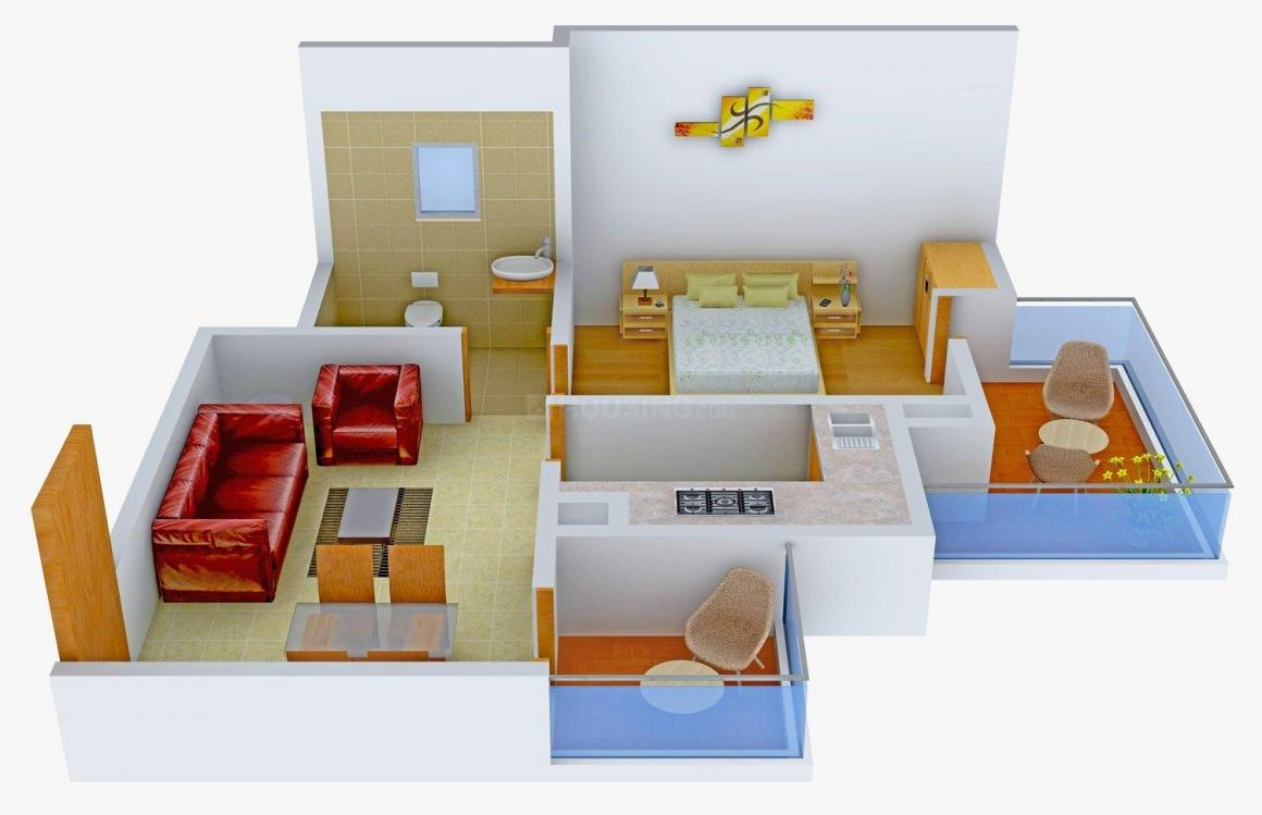 Floor Plan Image of 650 - 1600 Sq.ft 1 BHK Apartment for buy in Prakash Grandeur