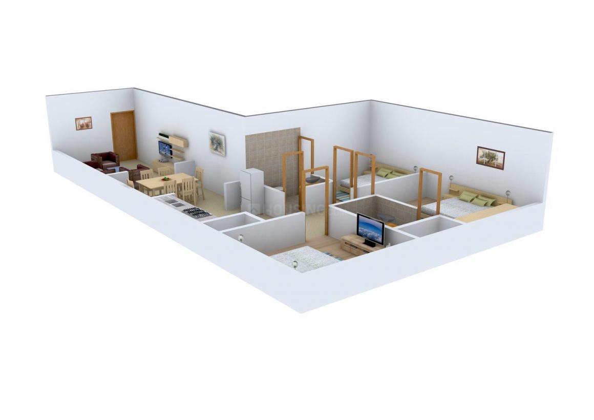 Floor Plan Image of 0 - 1035 Sq.ft 3 BHK Independent Floor for buy in Happy Homes Floor - 2