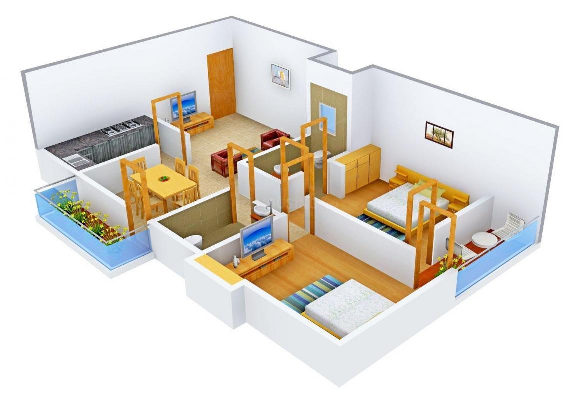 Mateshwari Shashi Sadan Floor Plan: 2 BHK Unit with Built up area of 990 sq.ft 1