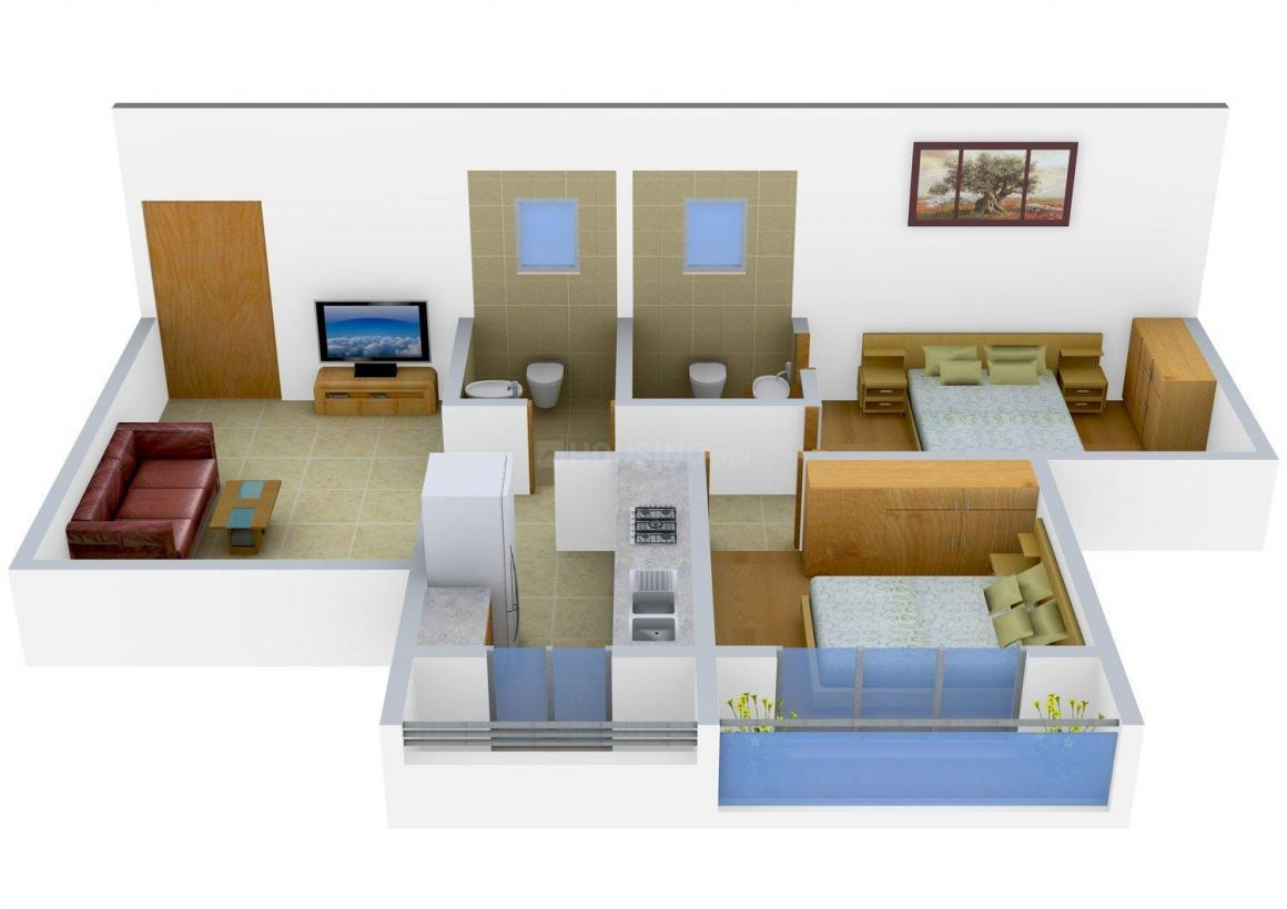 Floor Plan Image of 0 - 875.0 Sq.ft 2 BHK Apartment for buy in Unity Gopal Nagar