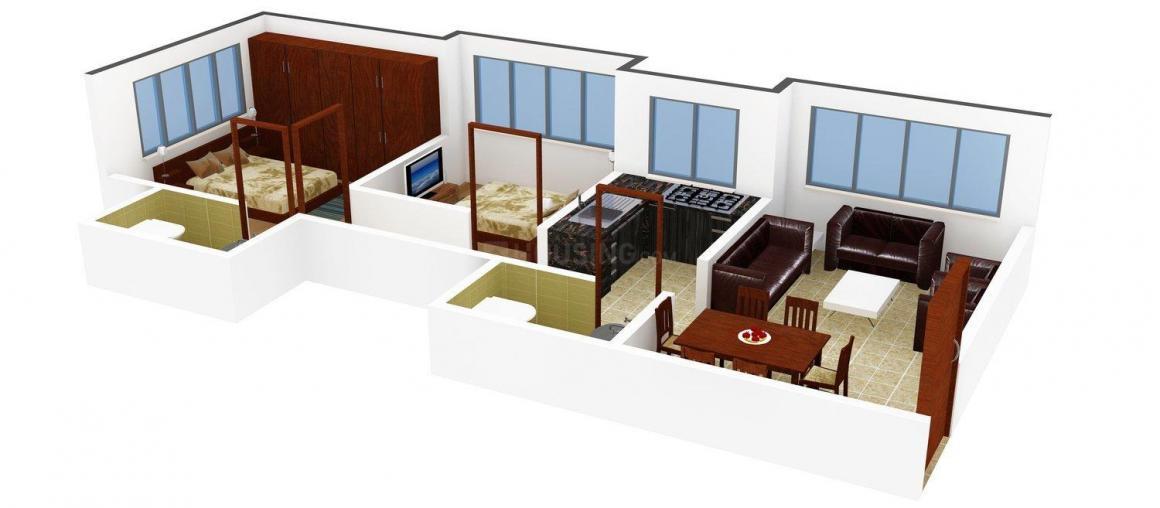 Floor Plan Image of 0 - 423.0 Sq.ft 1.5 BHK Apartment for buy in Aditya Ranjaee CHS