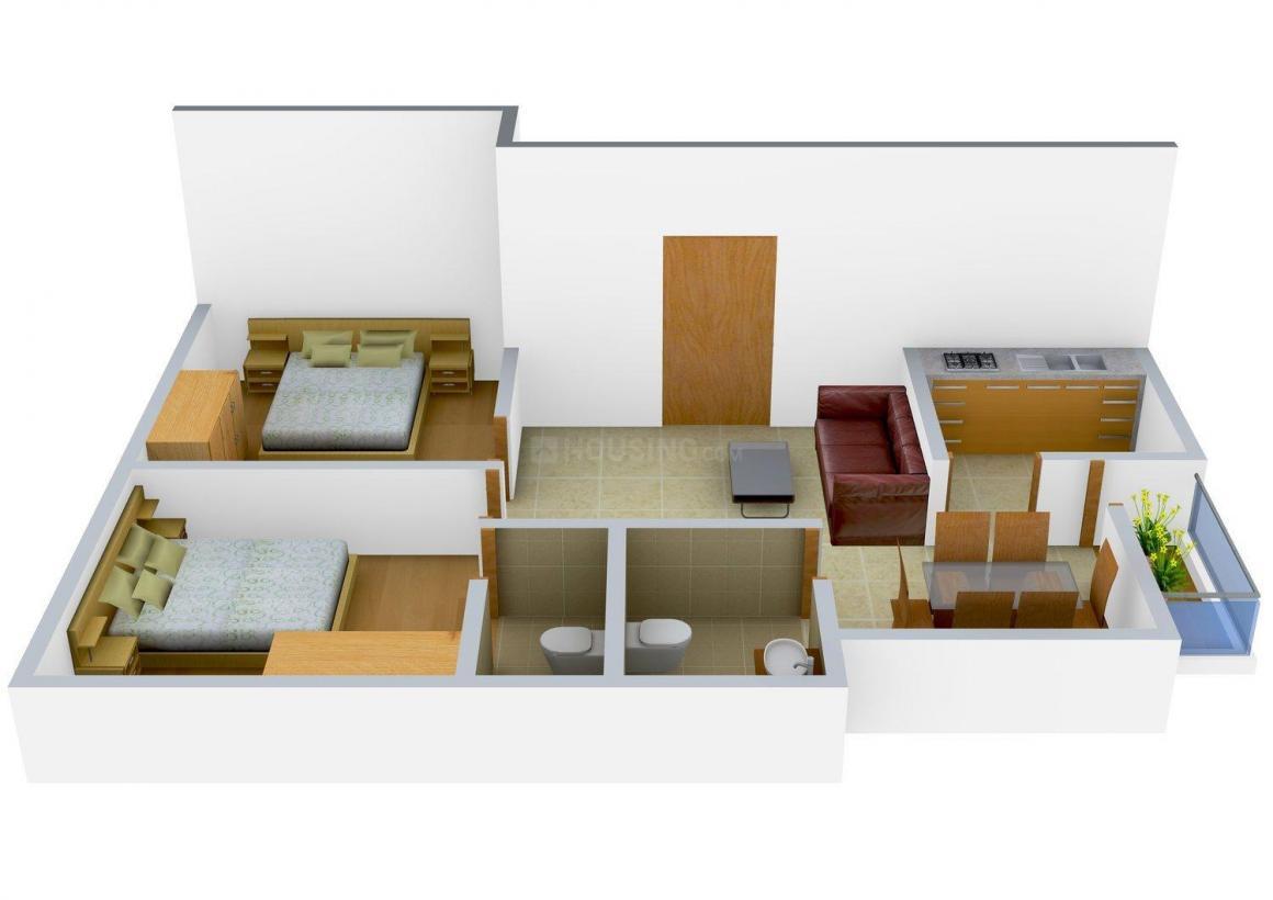 Biswas Jeet Venus Floor Plan: 2 BHK Unit with Built up area of 922 sq.ft 1
