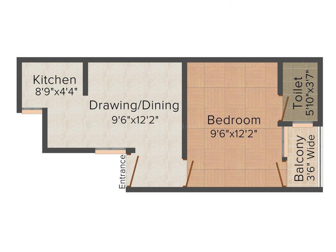 Floor Plan Image of 0 - 450.0 Sq.ft 1 BHK Independent Floor for buy in MG Residency-382/2