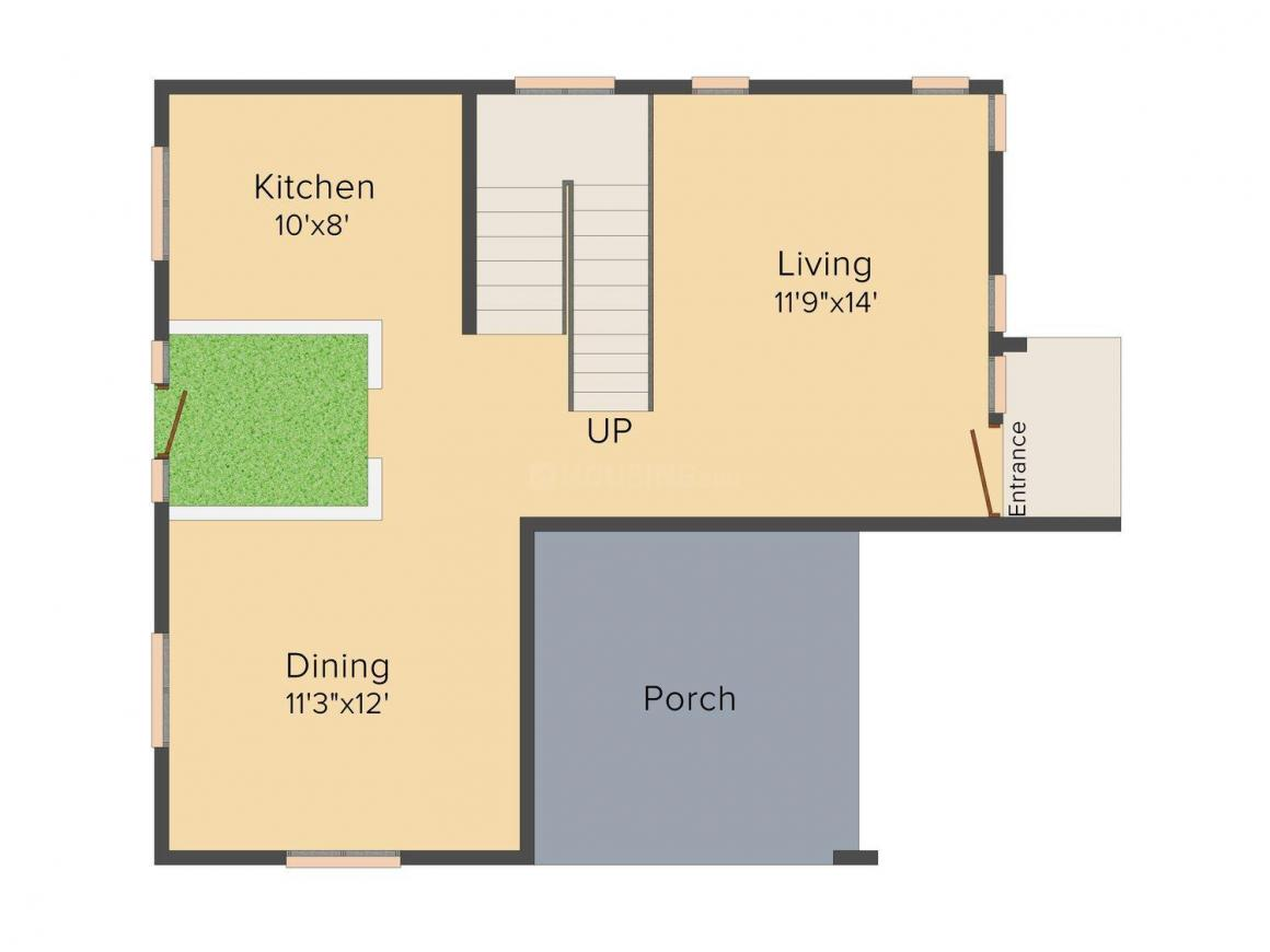 Floor Plan Image of 2150 - 2800 Sq.ft 3 BHK Villa for buy in KEH Palm County Residences