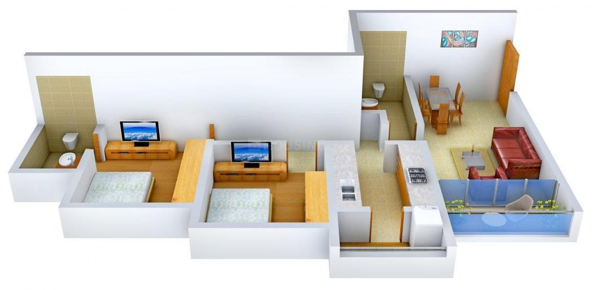 Floor Plan Image of 723 - 2788 Sq.ft 2 BHK Apartment for buy in Raheja Waterfront