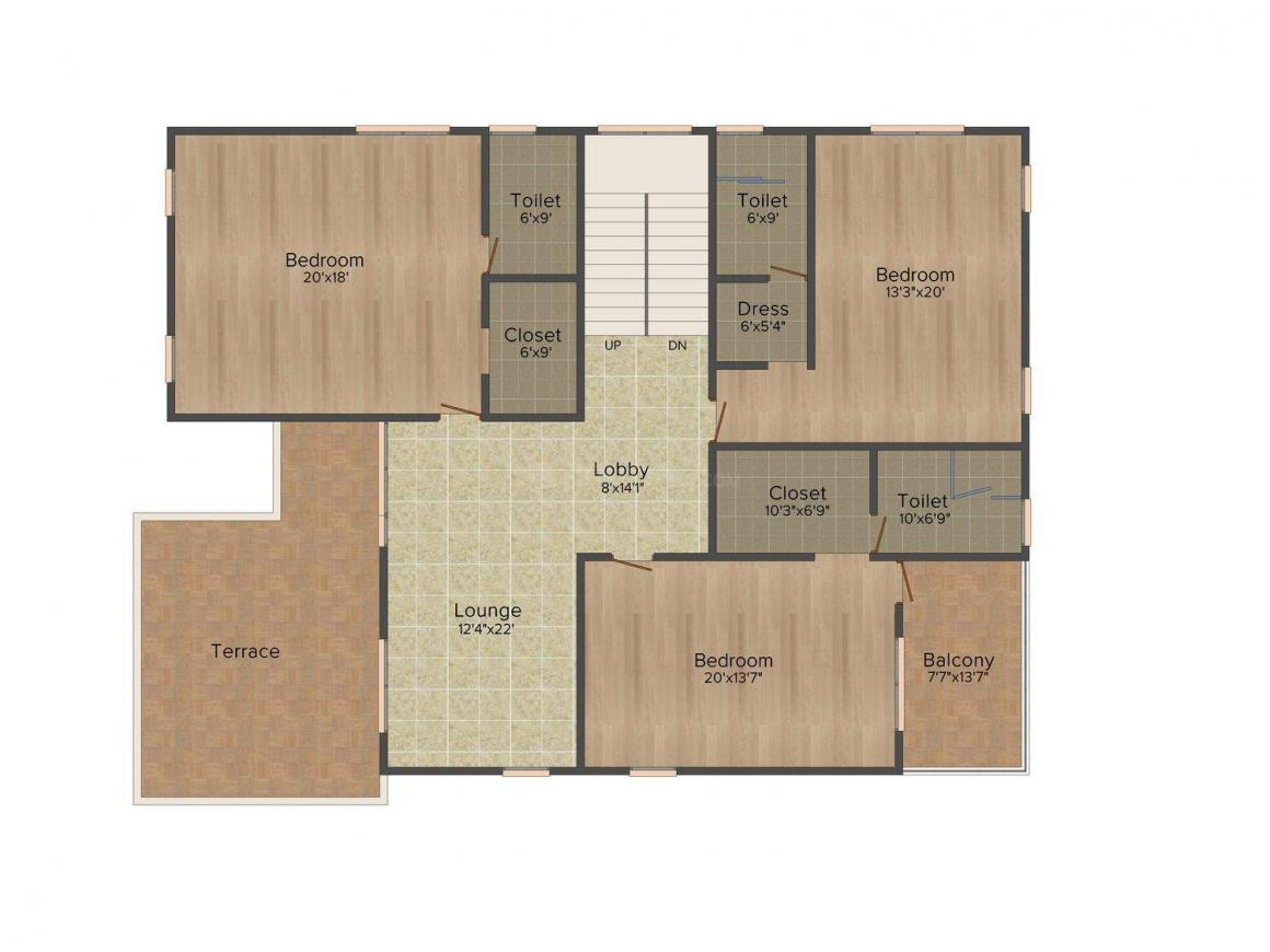 Floor Plan Image of 0 - 4960.0 Sq.ft 4.5 BHK Villa for buy in Ramky CEO Enclave