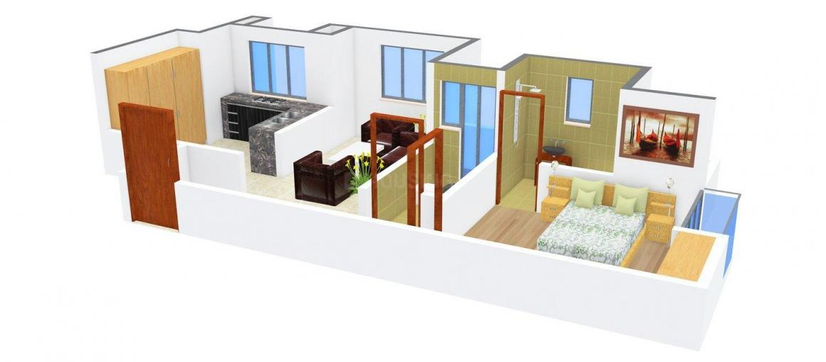 Floor Plan Image of 600.0 - 707.0 Sq.ft 1 BHK Apartment for buy in Shreenath Villa
