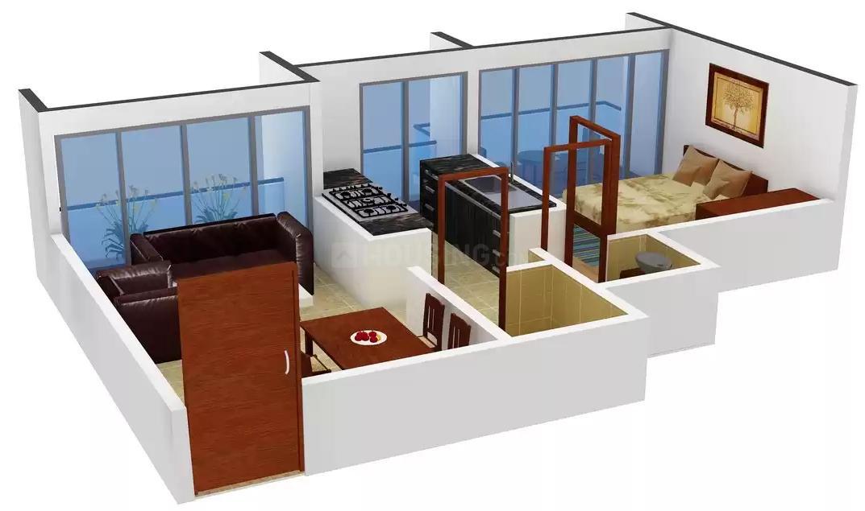 Floor Plan Image of 510.0 - 980.0 Sq.ft 1 BHK Apartment for buy in Neelkanth Residency