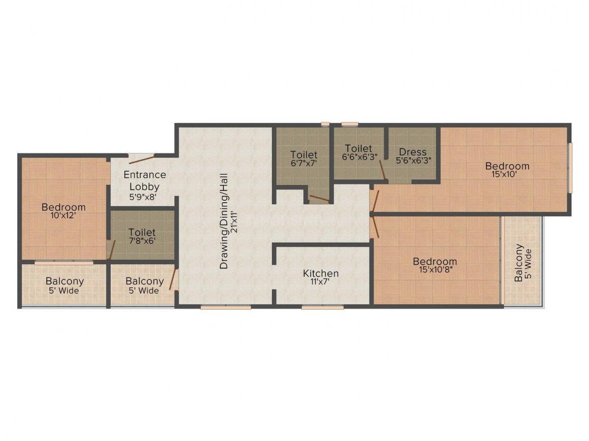 Floor Plan Image of 1202 - 3210 Sq.ft 2 BHK Apartment for buy in Aastha Navkamal Premimum Apartments