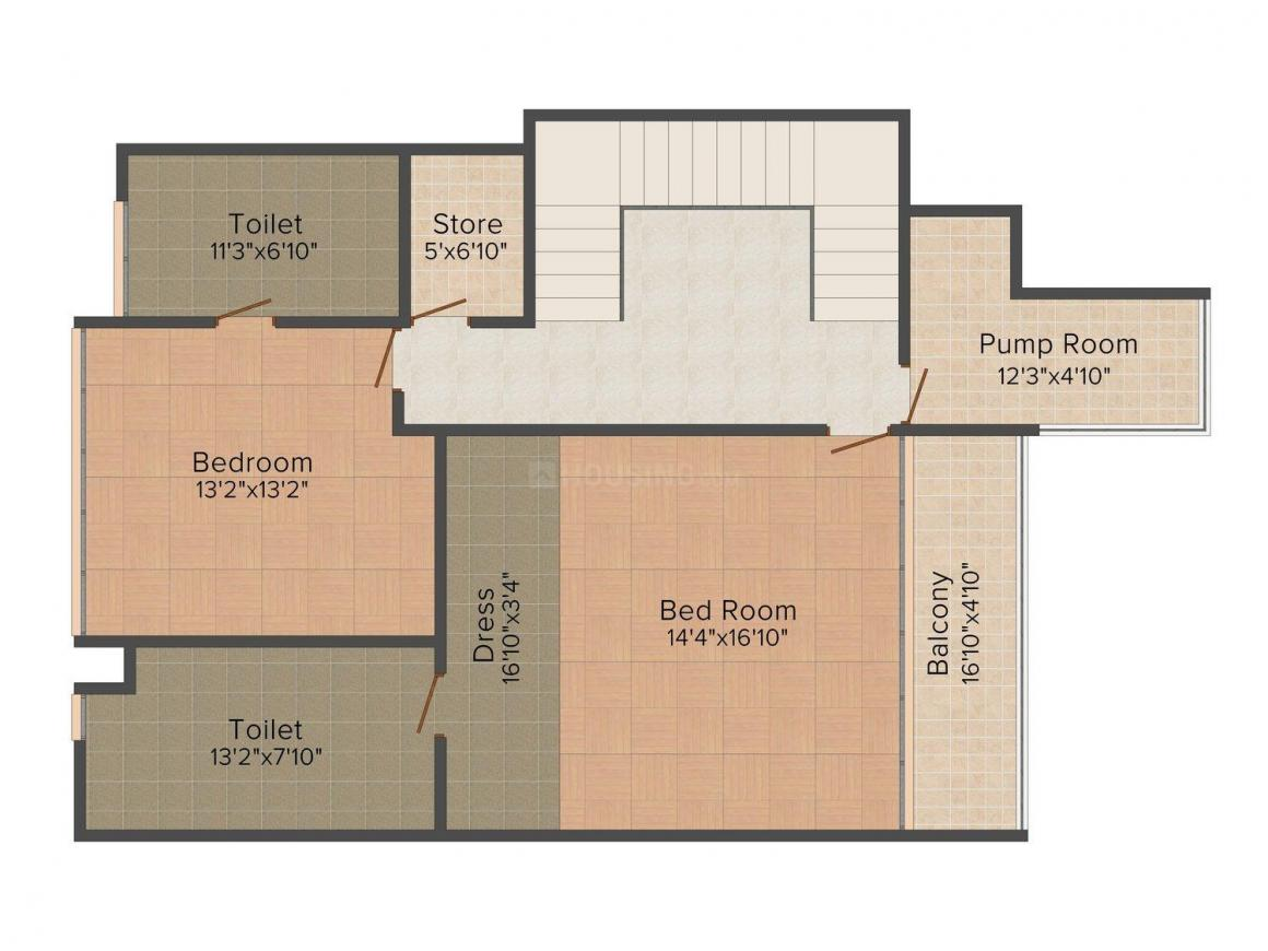 Floor Plan Image of 0 - 3200.0 Sq.ft 3 BHK Villa for buy in Conscient Infinity Bay