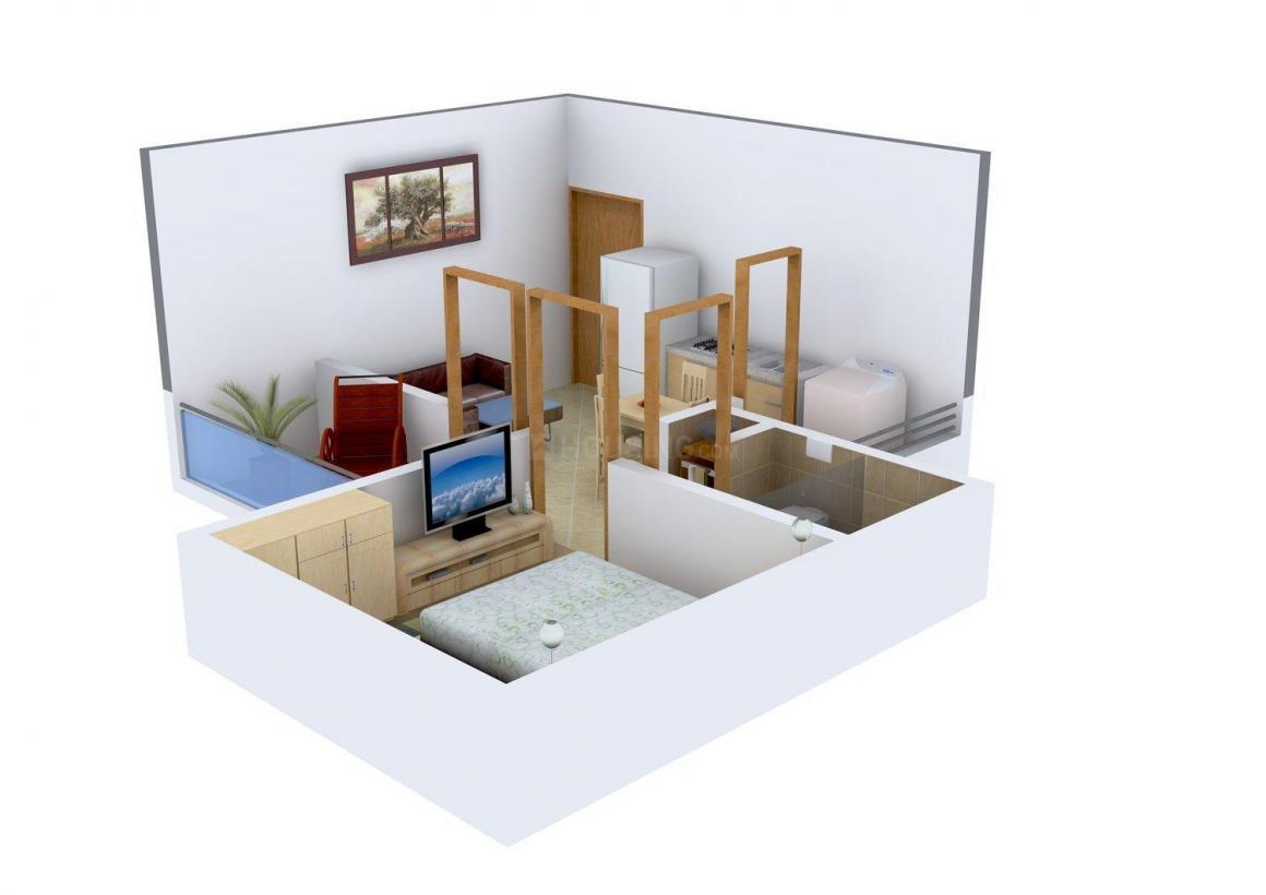 Chaitya Shanti Gardens Floor Plan: 1 BHK Unit with Built up area of 384 sq.ft 1