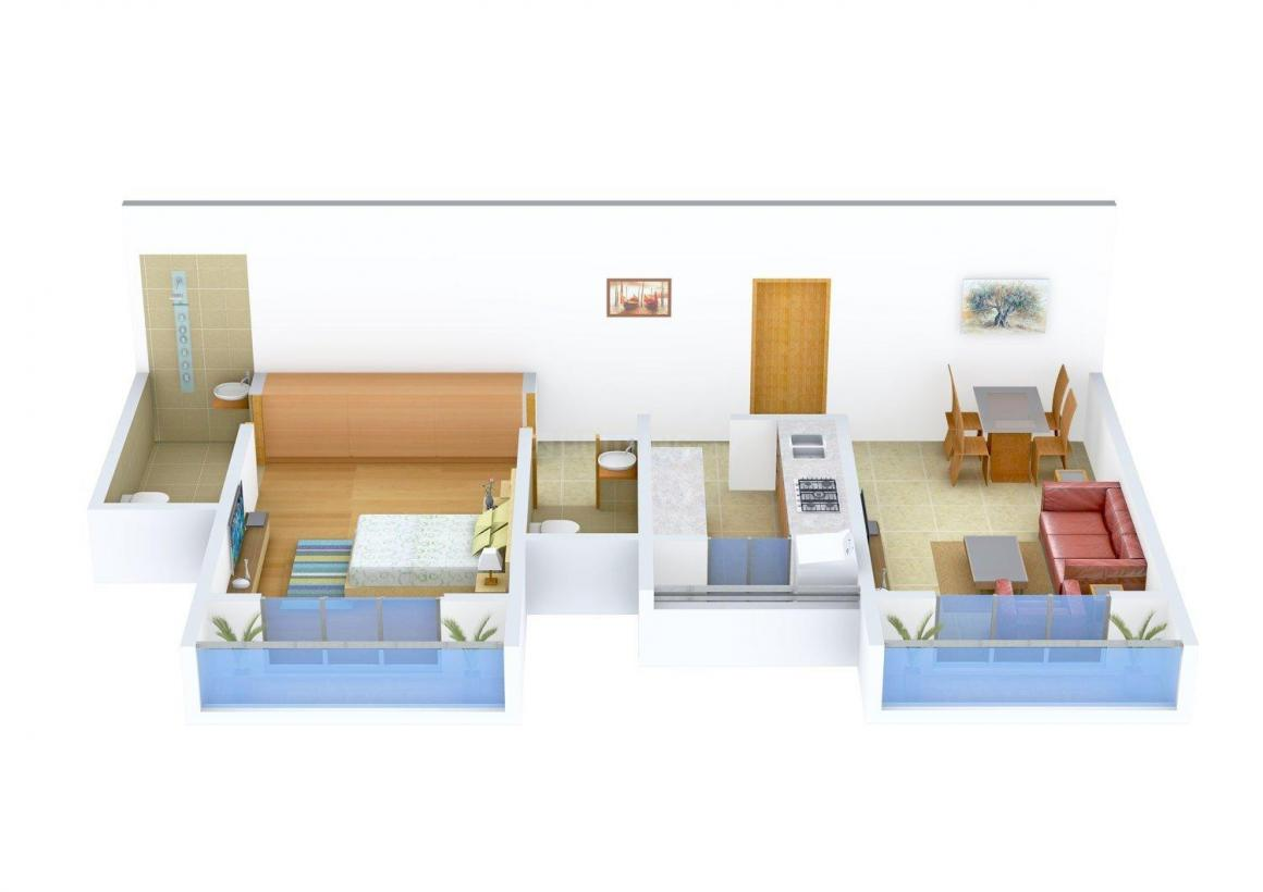 Floor Plan Image of 775 - 1400 Sq.ft 1 BHK Apartment for buy in Fortune Exotica