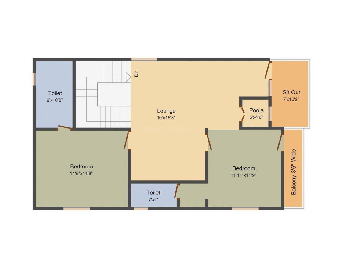 Satyadeva Satyadeva Dreams Floor Plan: 4 BHK Unit with Built up area of 2640 sq.ft 3