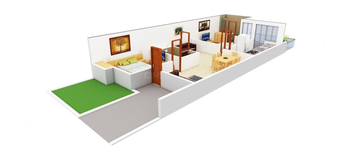 Floor Plan Image of 926.0 - 1966.0 Sq.ft 2 BHK Villa for buy in Satya Malwa Jewels